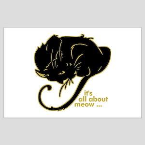 Funny Kitty Cat Kitten Large Poster
