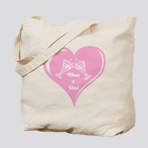 Mom and Dad Heart Tote Bag