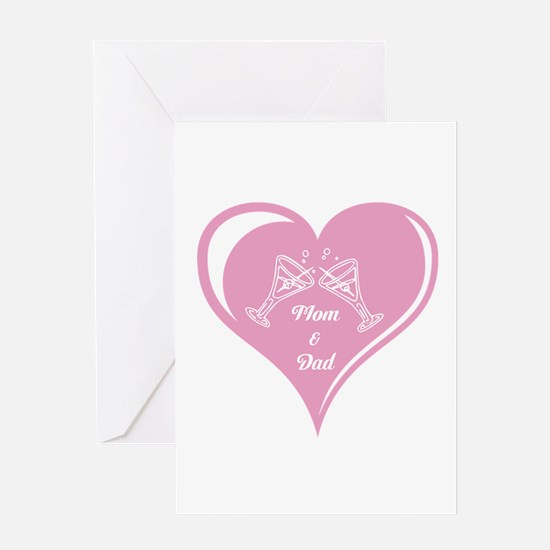 Mom and Dad Heart Greeting Card