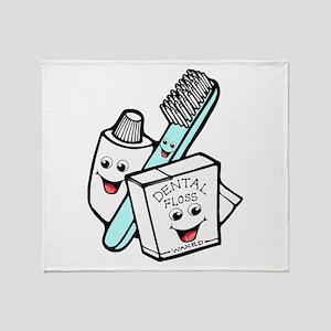 Funny Dentist Dental Hygienist Throw Blanket