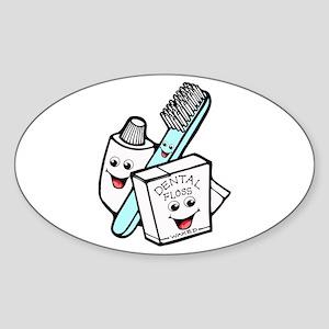 Funny Dentist Dental Hygienist Sticker (Oval)