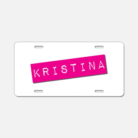 Kristina Punchtape Aluminum License Plate