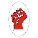 Raised Fist Sticker (Oval 50 pk)