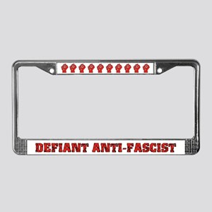 Raised Fist License Plate Frame