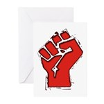 Raised Fist Greeting Cards (Pk of 10)