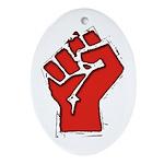 Raised Fist Ornament (Oval)