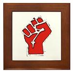 Raised Fist Framed Tile