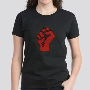 Raised Fist Women's Dark T-Shirt