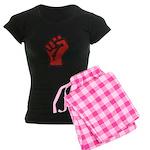Raised Fist Women's Dark Pajamas