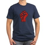 Raised Fist Men's Fitted T-Shirt (dark)