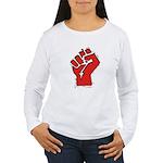 Raised Fist Women's Long Sleeve T-Shirt