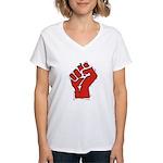Raised Fist Women's V-Neck T-Shirt