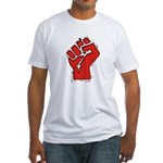 Raised Fist Fitted T-Shirt