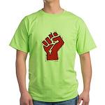 Raised Fist Green T-Shirt