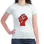 Raised Fist Jr. Ringer T-Shirt