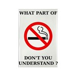 No Smoking Rectangle Magnet (100 pack)