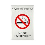No Fumar Rectangle Magnet
