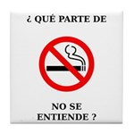 No Fumar Tile Coaster