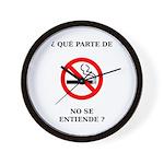 No Fumar Wall Clock