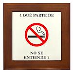 No Fumar Framed Tile