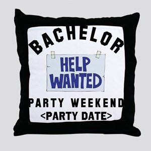 Bachelor Party (Enter Date) Throw Pillow