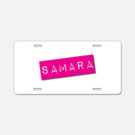 Samara Punchtape Aluminum License Plate