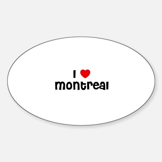 I * Montreal Oval Decal