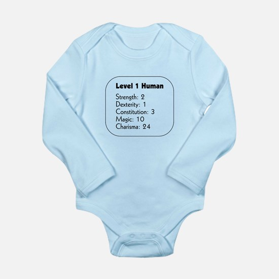Level 1 Human Long Sleeve Infant Bodysuit