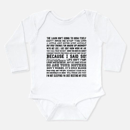 Dad-isms Long Sleeve Infant Bodysuit