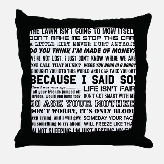 Dad-isms Throw Pillow