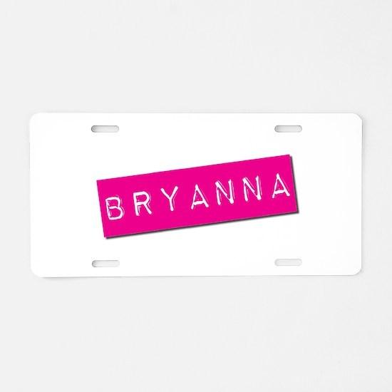 Bryanna Punchtape Aluminum License Plate