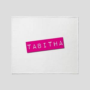 Tabitha Punchtape Throw Blanket