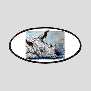 Wildlife, rhino, art, Patches