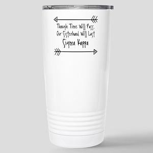 Sigma Kappa Siste 16 oz Stainless Steel Travel Mug