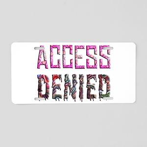Access Denied Aluminum License Plate
