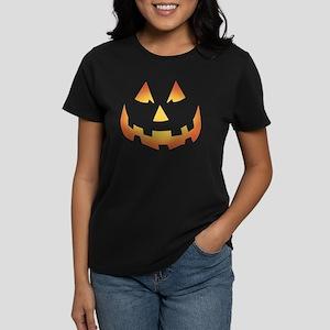 Scary Pumpkin Face Women's Dark T-Shirt