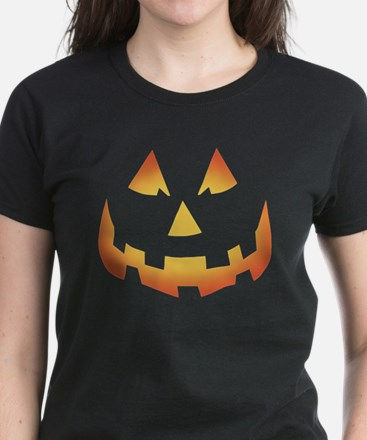 Scary Pumpkin Face Women's Dark T-Shirt