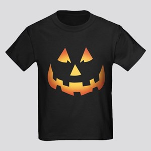 Scary Pumpkin Face Kids Dark T-Shirt