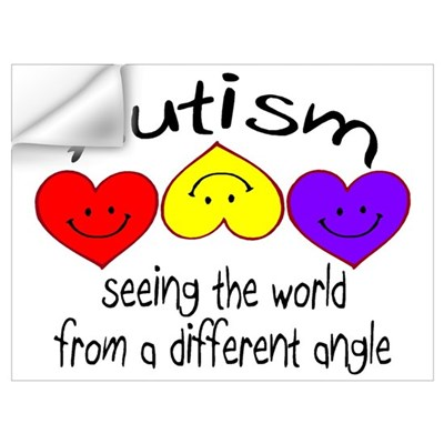 Autism, Seeing The World From A Different Angle Sm Wall Decal