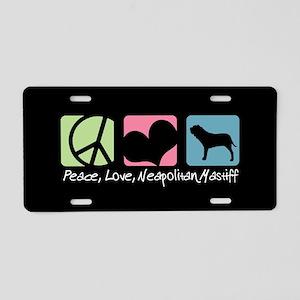 Peace, Love, Neapolitan Mastiff Aluminum License P