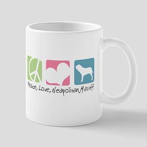 Peace, Love, Neapolitan Mastiff Mug