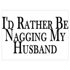 Rather Nag Husband Framed Print