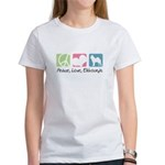 Peace, Love, Elkhounds Women's T-Shirt