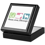Peace, Love, Elkhounds Keepsake Box