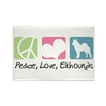 Peace, Love, Elkhounds Rectangle Magnet (100 pack)