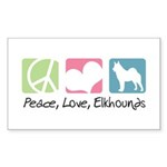 Peace, Love, Elkhounds Sticker (Rectangle 10 pk)