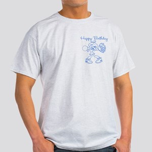 Blue Cheerleader Birthday Light T-Shirt