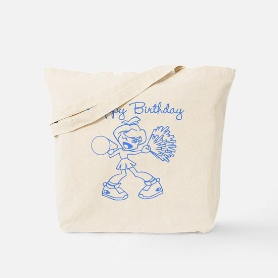 Blue Cheerleader Birthday Tote Bag