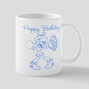 Blue Cheerleader Birthday Mug