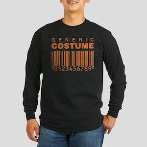 Generic Costume Barcode Long Sleeve Dark T-Shirt